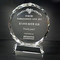 受賞記念のクリスタル楯(盾)