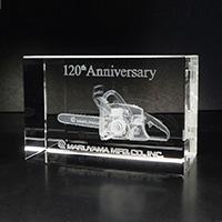 120周年記念の記念品3Dクリスタル