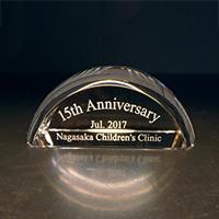 15周年記念品のペーパーウェイト