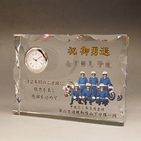 フルカラー写真入りクリスタル楯(盾)