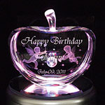 誕生日プレゼントの3Dクリスタルアート