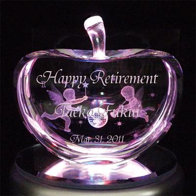 3Dクリスタルアート 退職祝いプレゼント