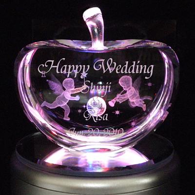 3Dクリスタルアート 結婚祝いプレゼント