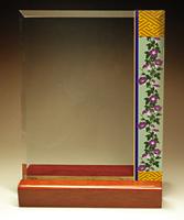 フルカラー絵柄入りガラス楯(盾)和風柄