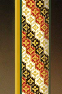 フルカラー絵柄入りガラス楯(盾)亀甲