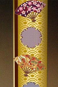 フルカラー絵柄入りガラス楯(盾)扇と雪輪