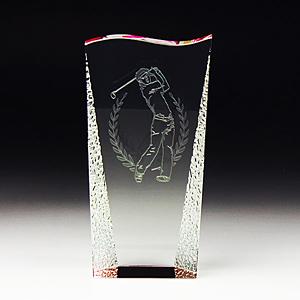 名入れクリスタルトロフィーのゴルフ大会記念品
