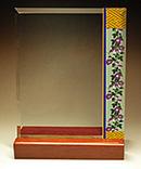 フルカラー絵柄入りガラス楯(盾)和柄(朝が柄)