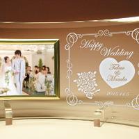 結婚祝いプレゼントのメッセージ入りフォトフレーム