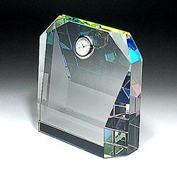 クリスタル楯(盾)時計付