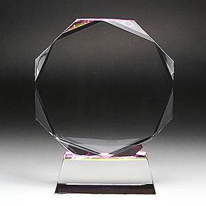 クリスタル楯(盾)八角形