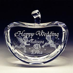 結婚祝いプレゼントの3Dクリスタルアート