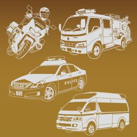 消防警察のイラスト