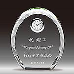 竣工祝い記念品のクリスタル楯(盾)