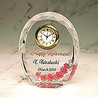 フルカラー絵柄入りクリスタル楯(盾)の退職祝いプレゼント