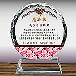 フルカラー絵柄入りクリスタル楯(盾)の感謝状