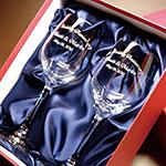 クリスタルワイングラス(ペア)の記念品