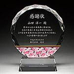 感謝状のフルカラークリスタル楯(盾)