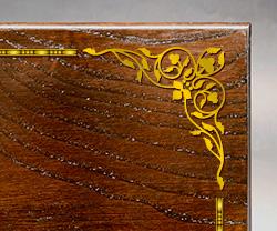 木製楯(盾)の記念品、木の楯(盾)飾り罫線