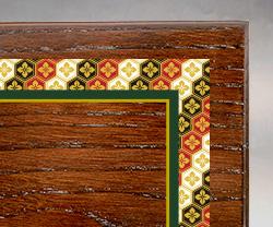 木製楯(盾)の記念品、木の楯(盾)和柄:亀甲