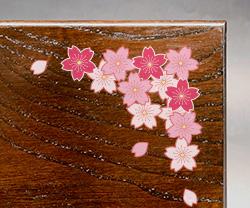 木製楯(盾)の記念品、木の楯(盾)和柄:桜