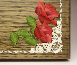 木の楯(盾)バラ