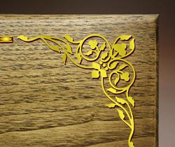 木の楯(盾)飾り罫線